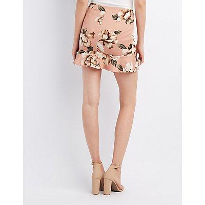 Floral Drop Waist Skater Skirt