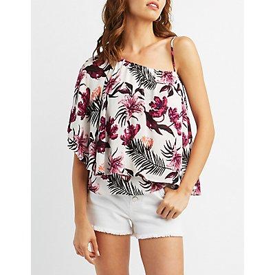 Floral One-Shoulder Top