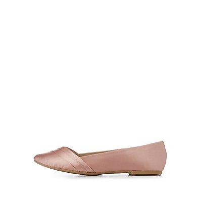 Pleated Ponted Toe Flats