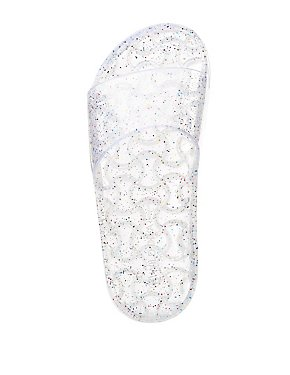 Glitter Jelly Slide Sandals