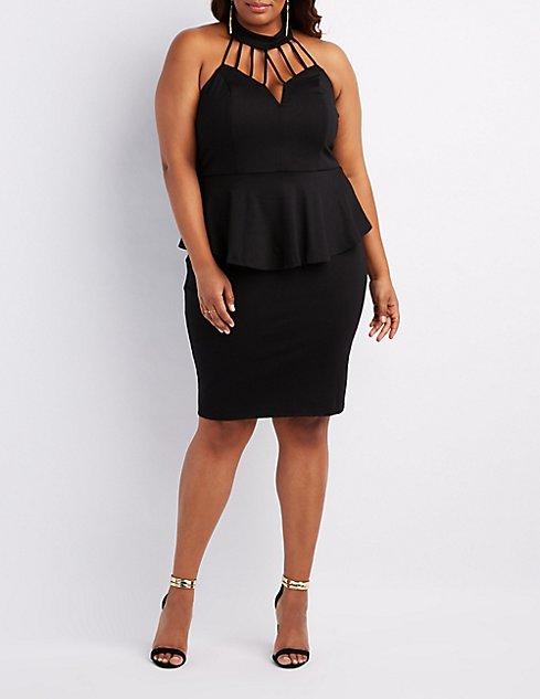 charlotte russe black peplum dress – Little Black Dress | Black Lace ...