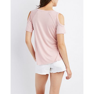 Cold Shoulder Raglan Tee