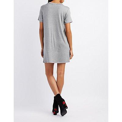 Distressed New York T-Shirt Dress