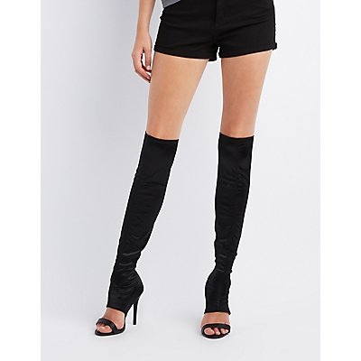 Qupid Cut-Out Over-The-Knee Stiletto Boots