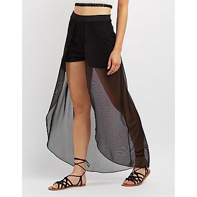 Mesh Maxi Shorts