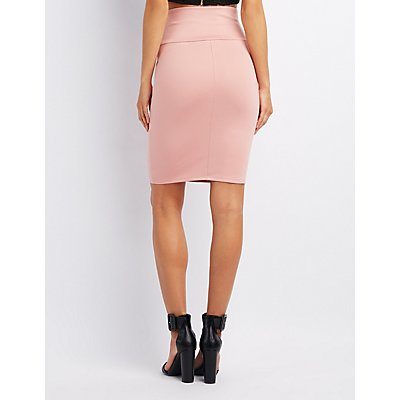 Corset-Detail Bodycon Skirt