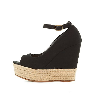 Bamboo Espadrille Wedges