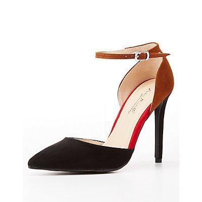 Colorblock D'Orsay Heels