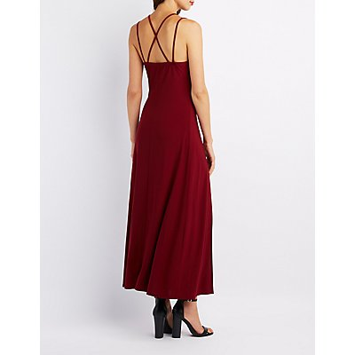 Strappy Double Slit Maxi Dress