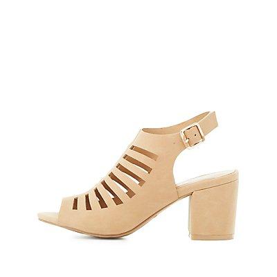Bamboo Laser-Cut Slingback Sandals