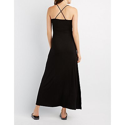 Strappy Surplice Maxi Dress