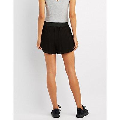 Smocked Guaze Shorts