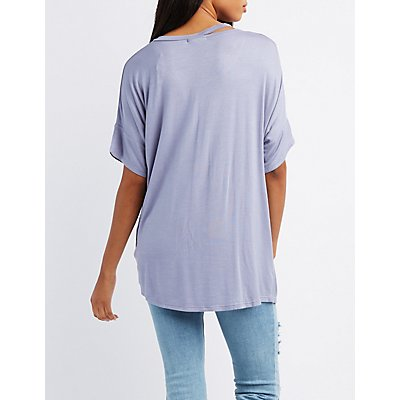Cut-Out Twist-Front Tee