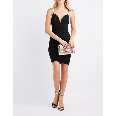 Notched Tulip Bodycon Dress