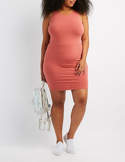 dbb72a53a754 Images. Plus Size Scoop Neck Bodycon Dress