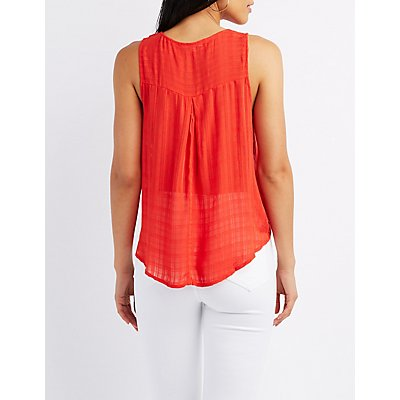 Strappy Surplice Tank Top