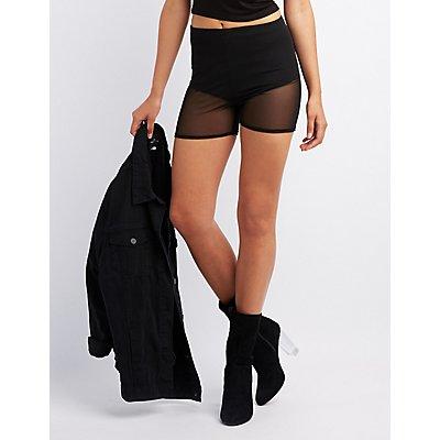 Sheer Mesh Bike Shorts