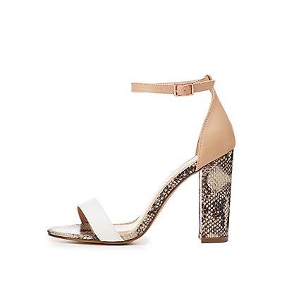 Colorblock Two-Piece Sandals
