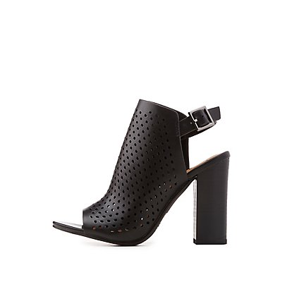 Laser-Cut Slingback Booties