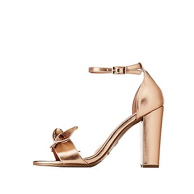 Bamboo Two-Piece Bow Sandals