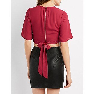 Kimono Sleeve Crop Top