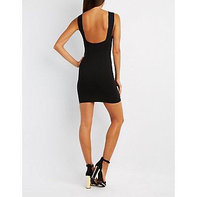 Open-Back Bodycon Dress