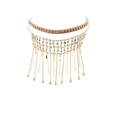 Embellished Choker Necklaces - 2 Pack