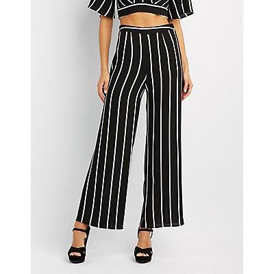 Striped Wide-Leg Pants