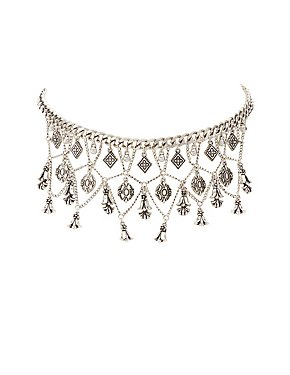 Chainlink Chandelier Choker Necklace