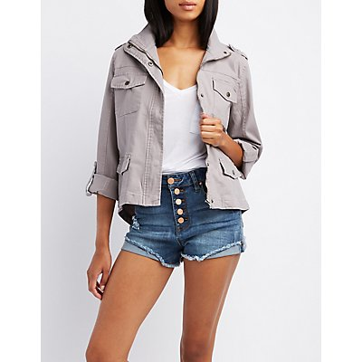 Cropped Anorak Jacket