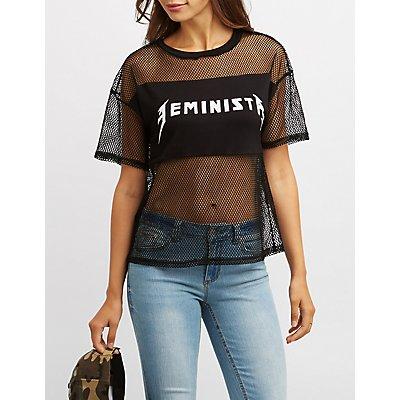 Feminista Mesh Combo Tee