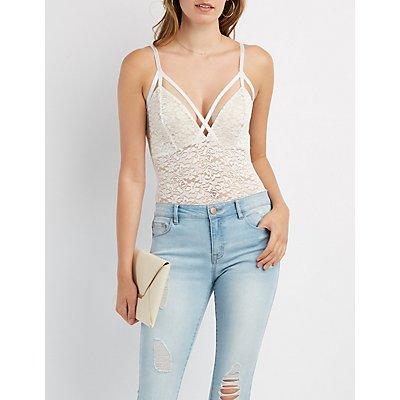 Lace Strappy Bodysuit