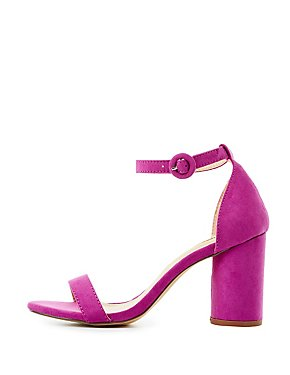 Two-Piece Cylinder Heel Sandals