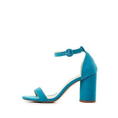 Two-Piece Cylinder Heel Sandals
