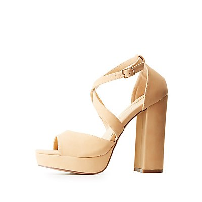 Strappy Peep Toe Platform Sandals