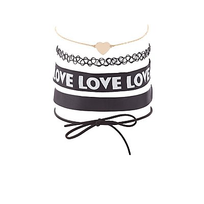 Love Choker Necklaces - 5 Pack