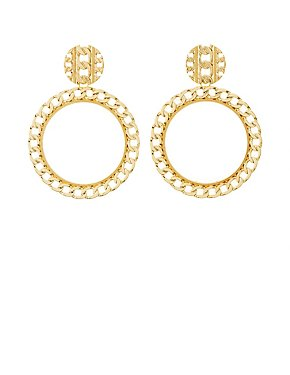 Flat Chainlink Hoop Earrings