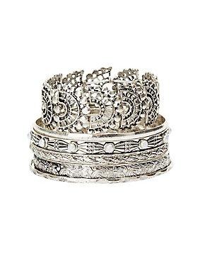 Boho Bangle Bracelets - 6 Pack