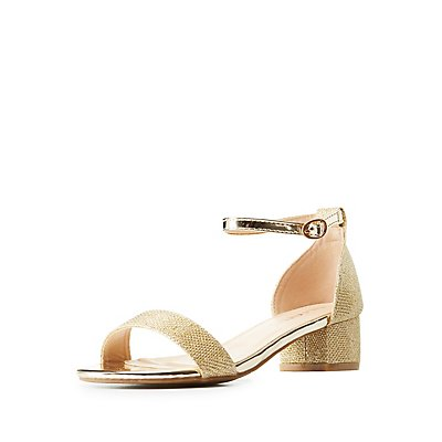 Glitter Two-Piece Sandals