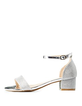 Glitter Two-Piece Sandals