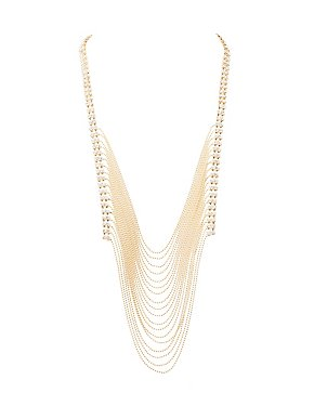 Cascading Chainlink Statement Necklace