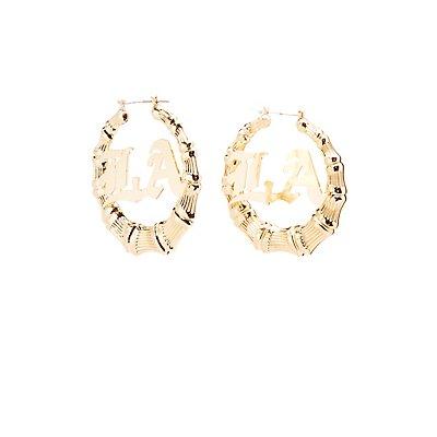 Embellished Hoop Circle Earrings