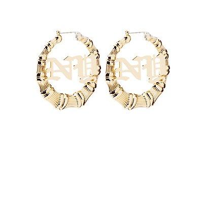 NY Bamboo Hoop Earrings