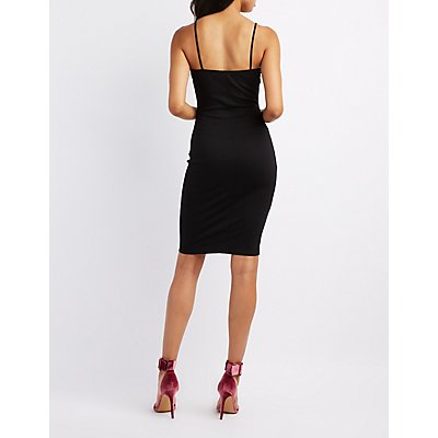 Corset-Detail Bodycon Dress