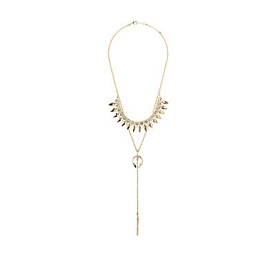 Embellished Bib Neck & Lariat Necklaces - 2 Pack