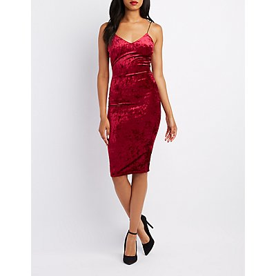 Velvet Midi Slip Dress