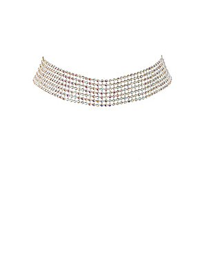 Crystal Mesh Choker Necklace