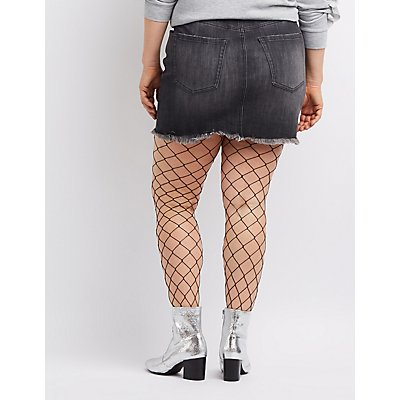 Plus Size Refuge Denim Mini Skirt
