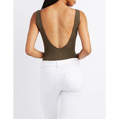 Femme Vibes Backless Bodysuit