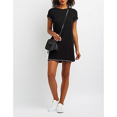 Chain-Trim T-Shirt Dress